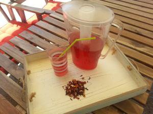tisana de fresa kiwi hibisco refresco natural